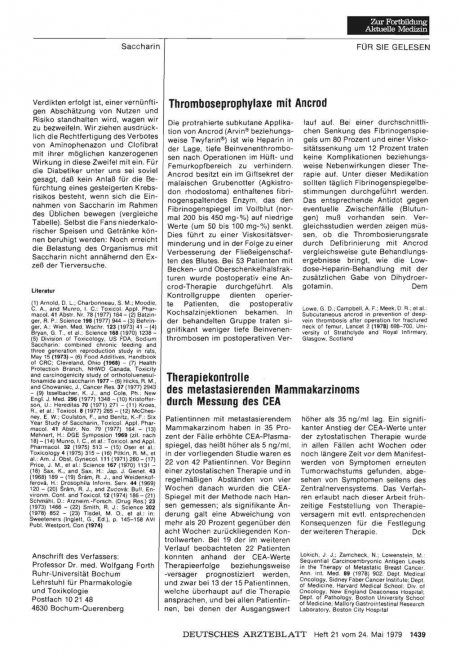 Thromboseprophylaxe mit Ancrod