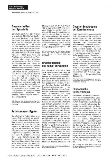 Besonderheiten der Synovialis