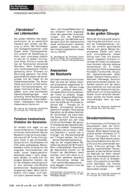 Perkutane transluminale Dilatation der Koronarien