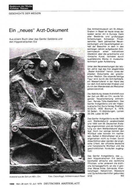 """Ein """"neues"""" Arzt-Dokument"""