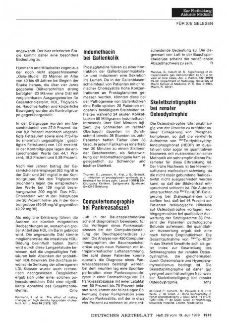 Computertomographie bei Pankreasabszeß