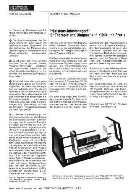 Präzisions-lnfusionsgerät für Therapie und...