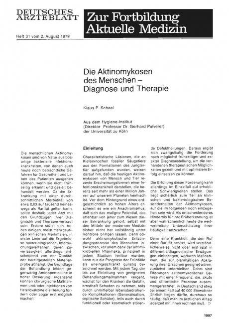 Die Aktinomykosen des Menschen — Diagnose und...
