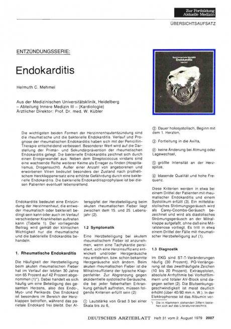Entzündnungsserie: Endokarditis