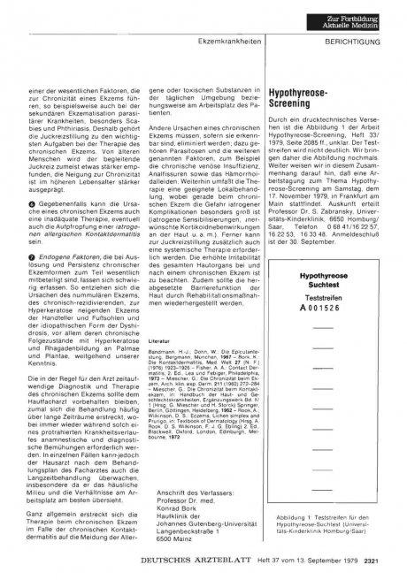Hypothyreose- Screening