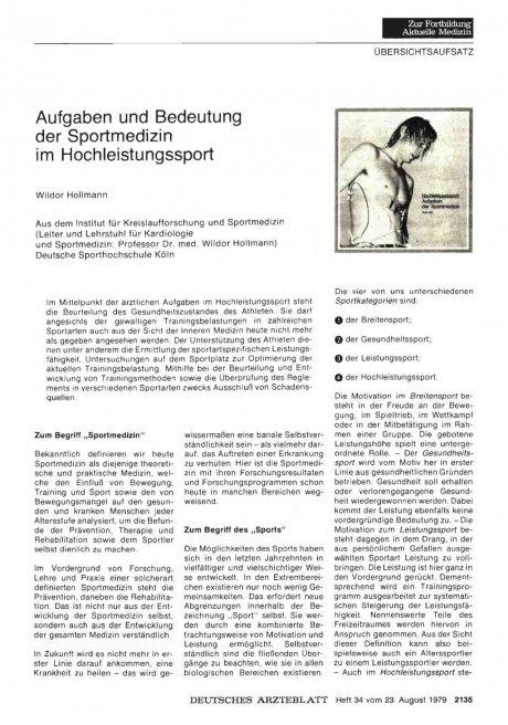 Aufgaben und Bedeutung der Sportmedizin im...