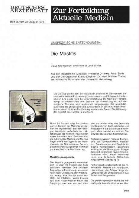 UNSPEZIFISCHE ENTZUNDUNGEN: Die Mastitis