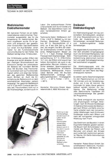 Medizinisches Elektrothermometer