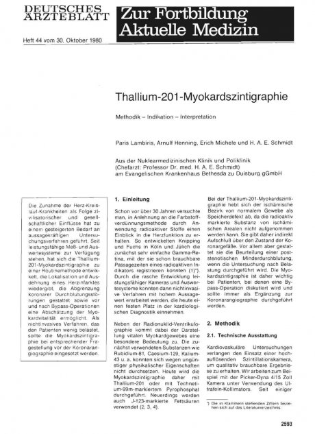 Thallium-201-Myokardszintigraphie