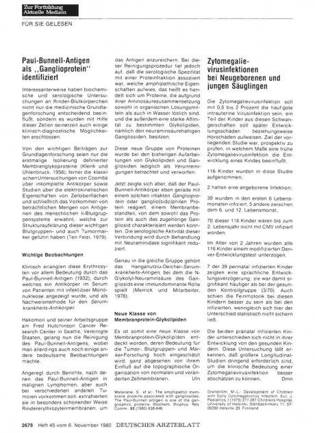 """Paul-Bunnel l-Antigen als """"Ganglioprotein""""..."""