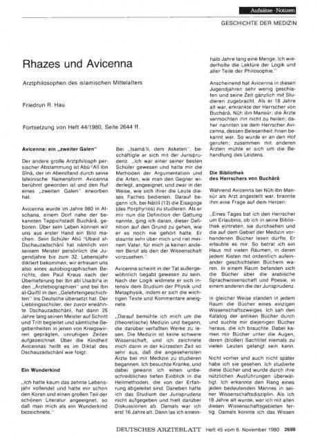 Rhazes und Avicenna