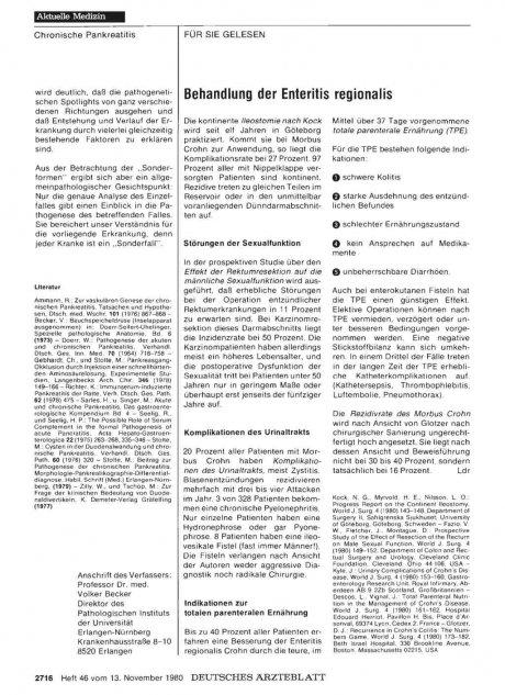 Behandlung der Enteritis regionalis