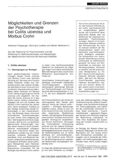 Möglichkeiten und Grenzen der Psychotherapie bei...