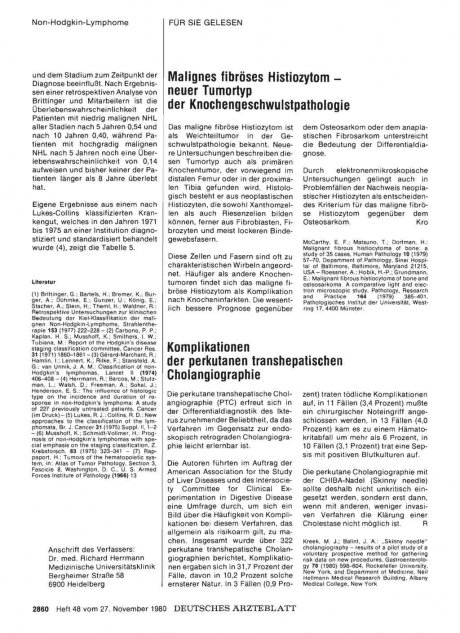 Malignes fibröses Histiozytom — neuer Tumortyp der...