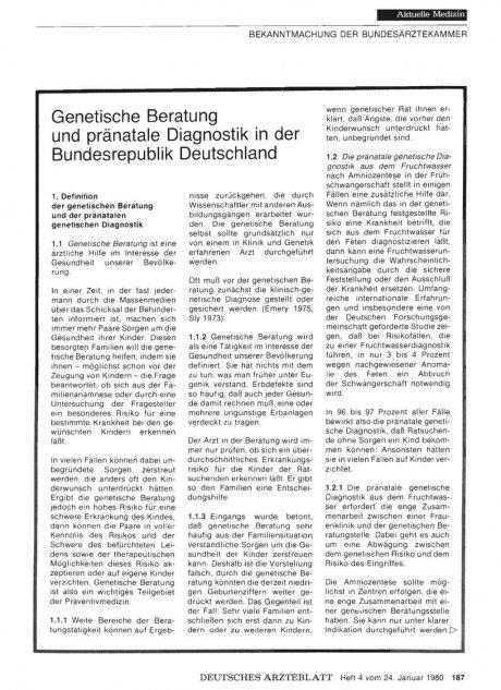 Genetische Beratung und pränatale Diagnostik in...