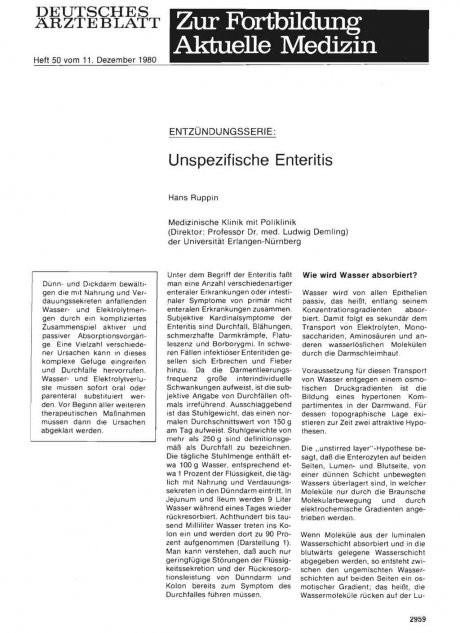 ENTZÜNDUNGSSERIE: Unspezifische Enteritis