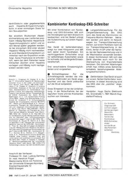 Kombinierter Kardioskop-EKG-Schreiber
