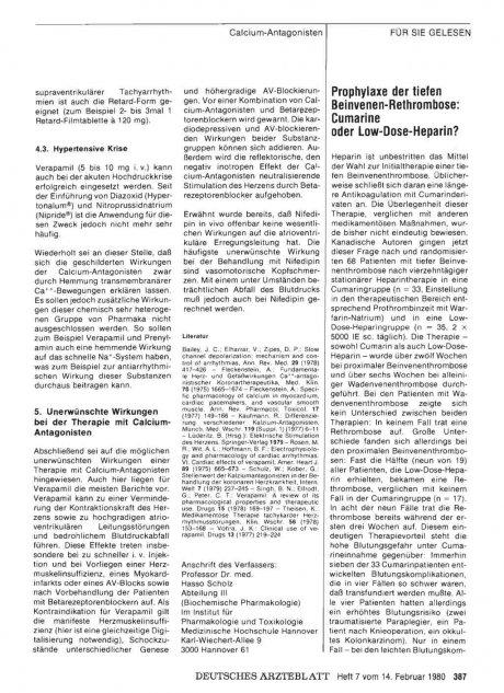 Prophylaxe der tiefen Beinvenen-Rethrombose
