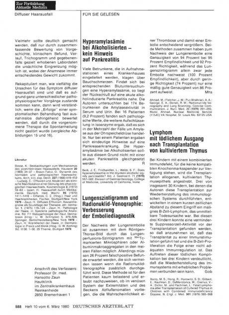 Lungenszintigramm und Radionuklid-Venographie