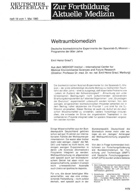 Weltraumbiomedizin