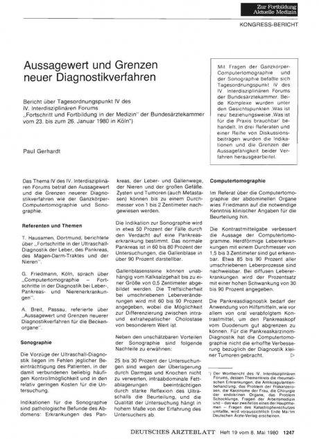 Aussagewert und Grenzen neuer Diagnostikverfahren