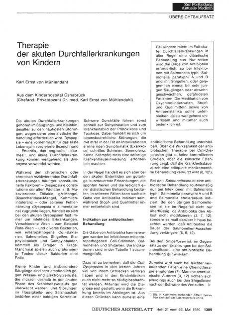 Therapie der akuten Durchfallerkrankungen von...