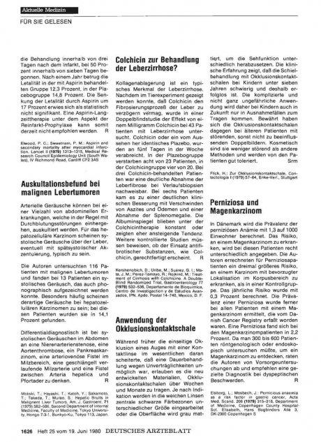 Colchicin zur Behandlung der Leberzirrhose?
