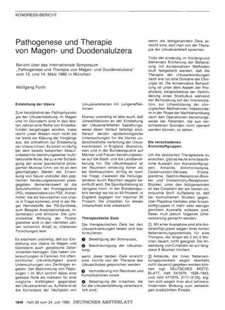 Pathogenese und Therapie von Magen- und...