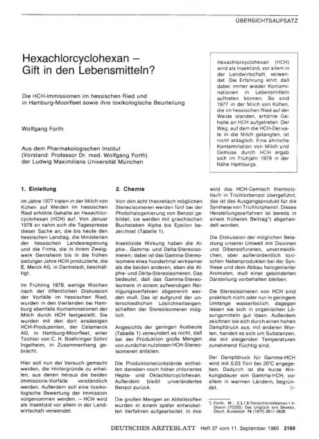 Hexachlorcyclohexan — Gift in den...