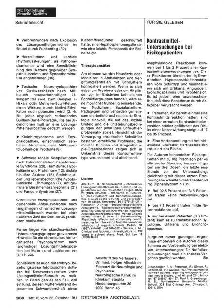 Kontrastmittel-Untersuchungen bei Risikopatienten