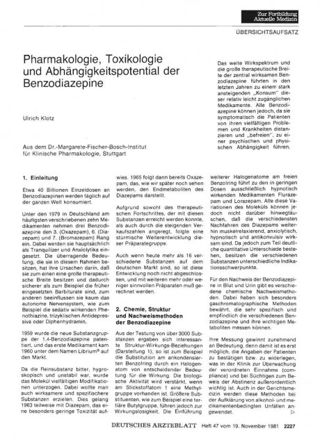 Pharmakologie, Toxikologie und...