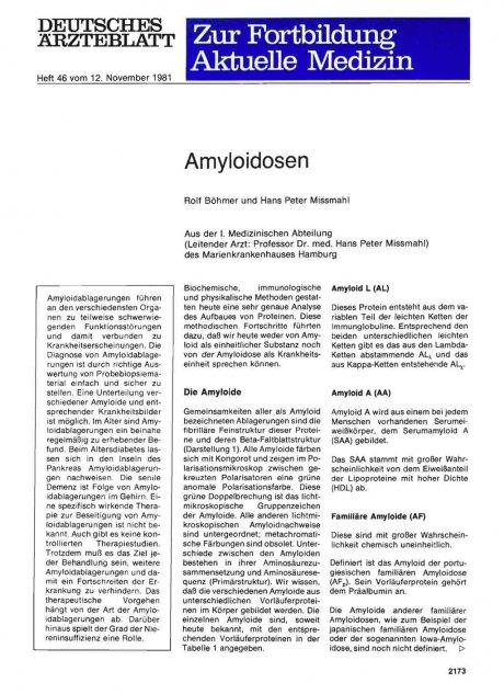 Amyloidosen
