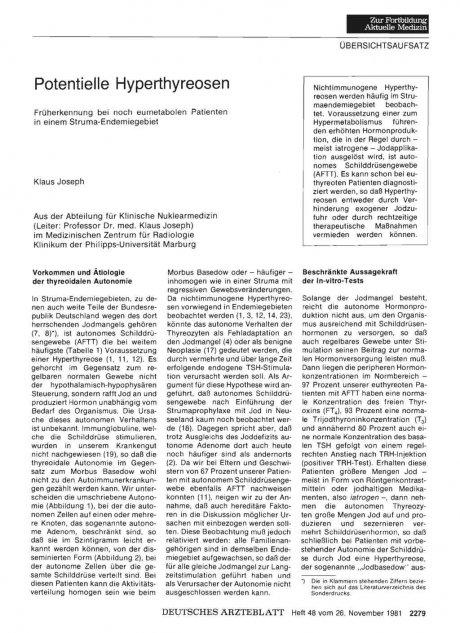 Potentielle Hyperthyreosen