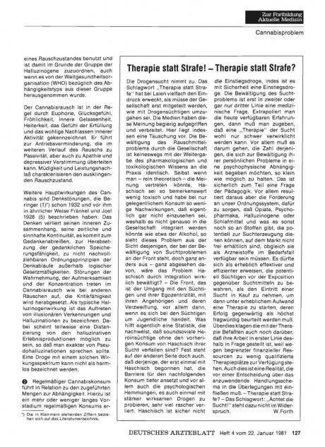Therapie statt Strafe! — Therapie statt Strafe?