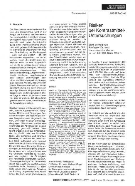 Risiken bei Kontrastmittel-Untersuchungen