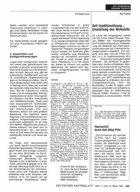 Avil-Injektionslösung — Umstellung des Wirkstoffs