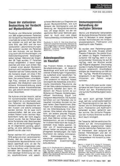 Asbestexposition im Haushalt
