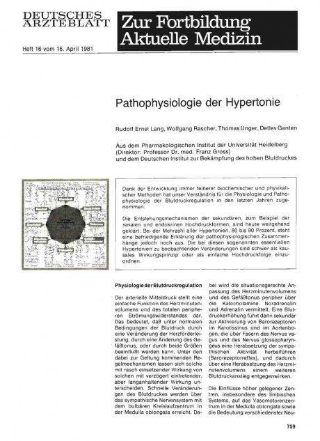 Pathophysiologie der Hypertonie