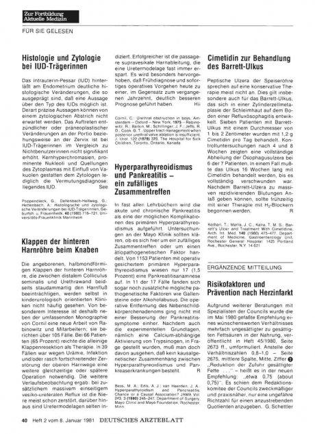 Histologie und Zytologie bei IUD-Trägerinnen