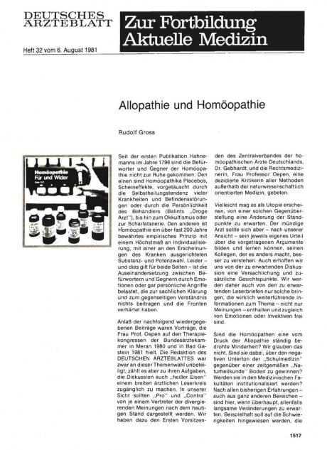 Allopathie und Homöopathie