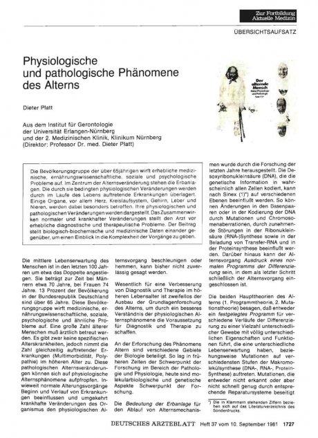Physiologische und pathologische Phänomene des...