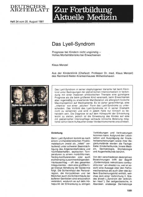 Das Lyell-Syndrom