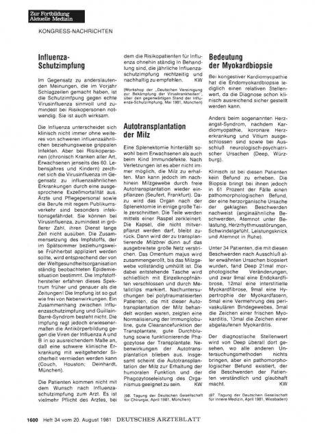 Bedeutung der Myokardbiopsie