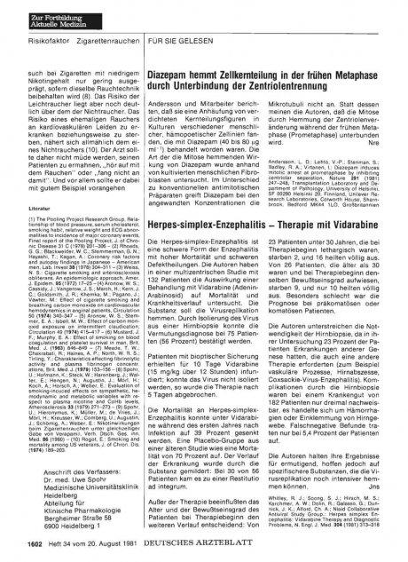 Herpes-simplex-Enzephalitis — Therapie mit...