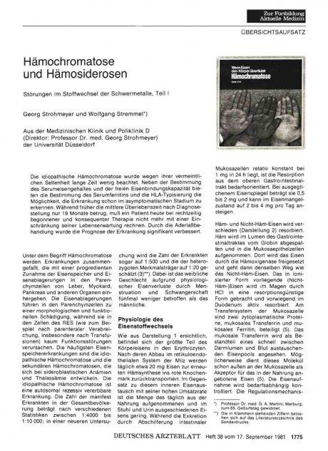 Hämochromatose und Hämosiderosen