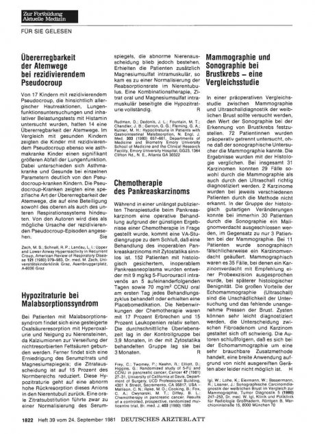 Hypozitraturie bei Malabsorptionssyndrom