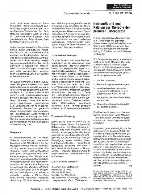 Natriumfluorid und Kalzium zur Therapie der...