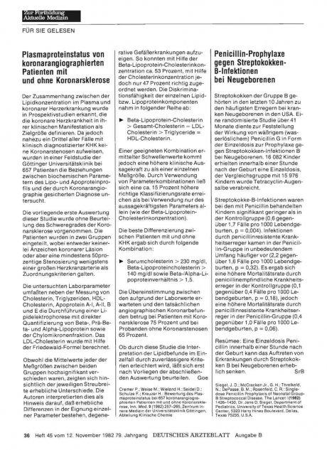 Penicillin-Prophylaxe gegen Streptokokken-...