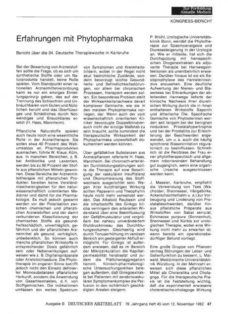 Erfahrungen mit Phytopharmaka
