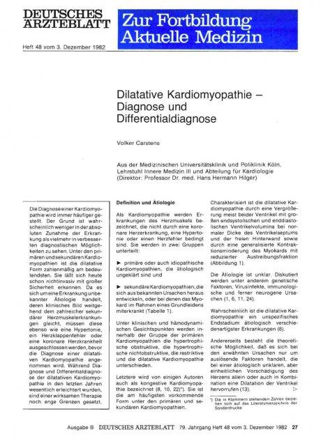 Dilatative Kardiamyopathie - Diagnose und...